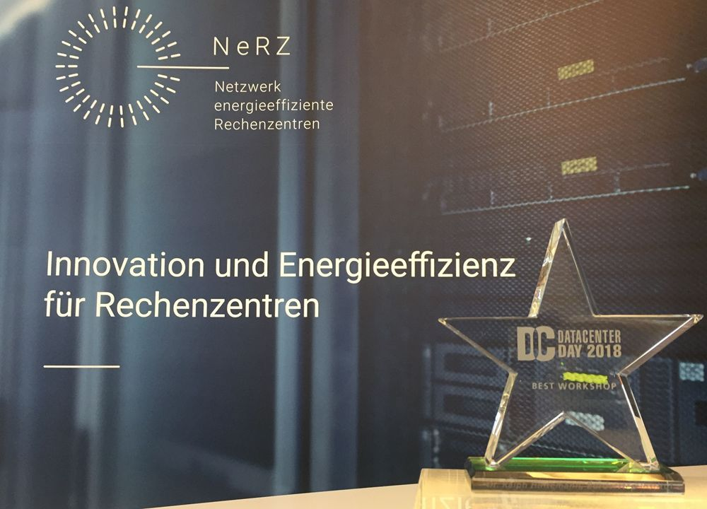 Foto vom Best Workshop Award für NeRZ auf dem Datacenter Day 2018